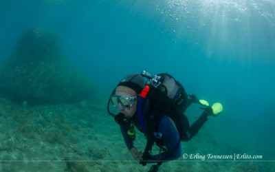 Divebuddy diving in Croatia.