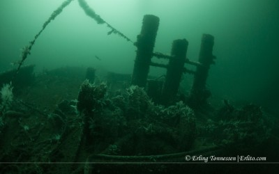 The wreck Ferndale at Seglesteinen Norway.