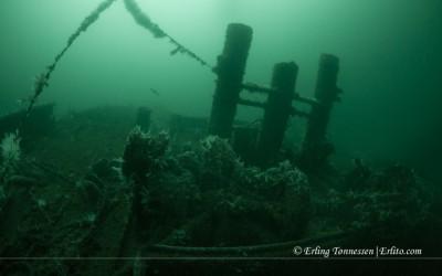 The wreck Ferndale at Seglesteinen Norway.