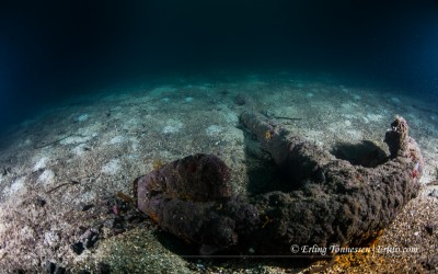 A lonely anchor from the wreck Gustav outside Mandal