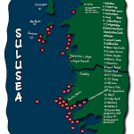 A map of the divesites in Panglao