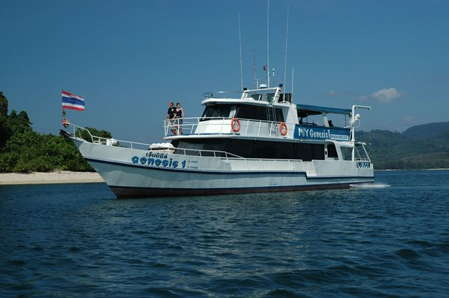 One of the Diveboats